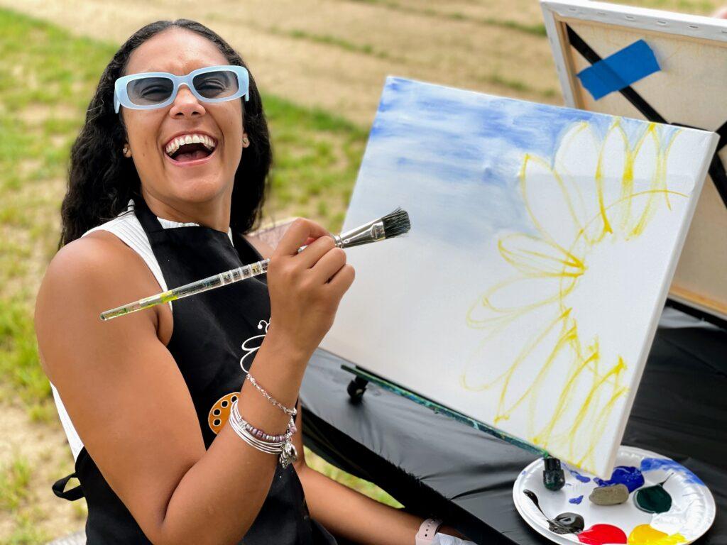 Happy Girl Smiling in the Be Creative Studio