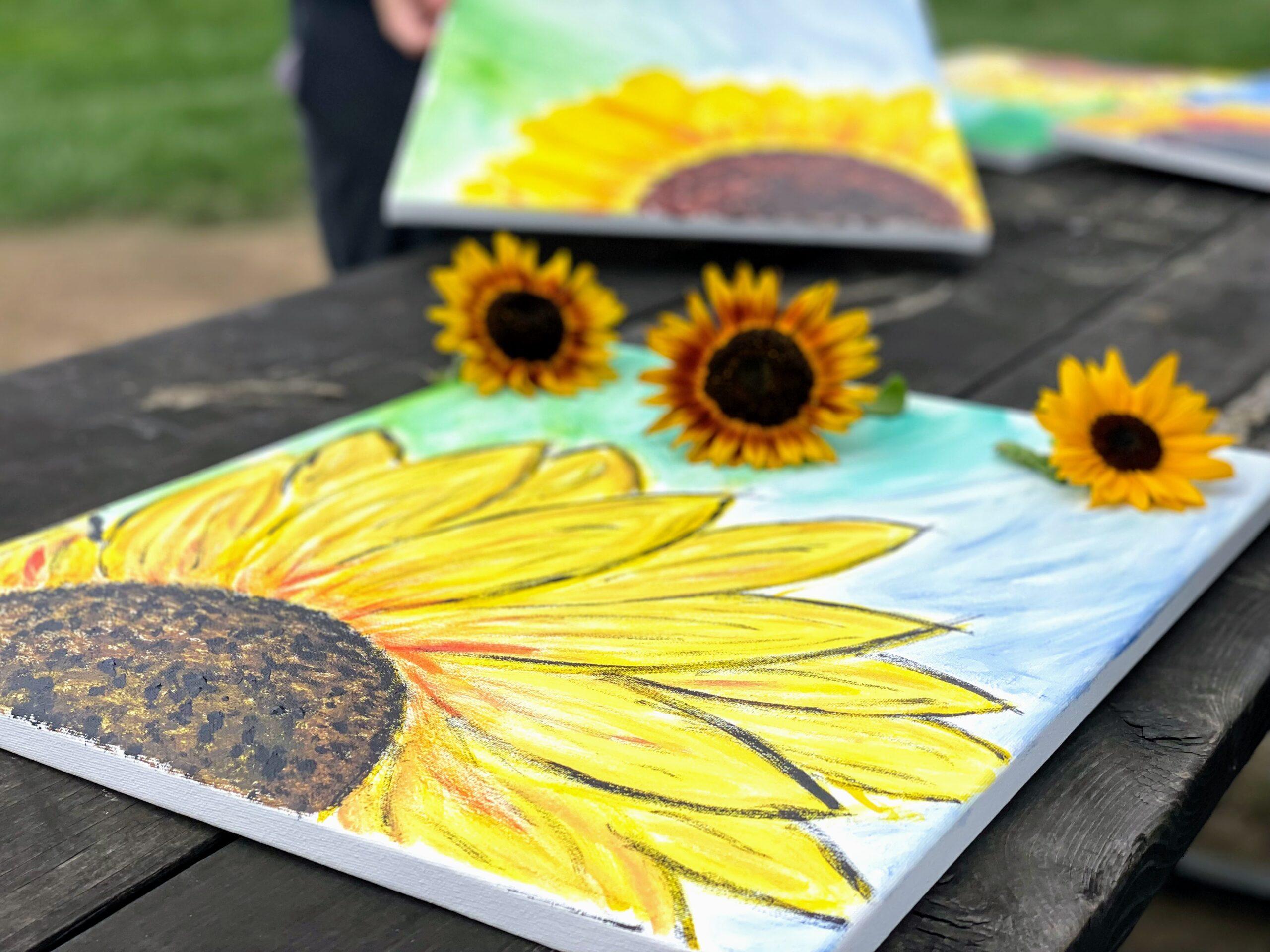 debucks_sunflowers_table_sunflowers