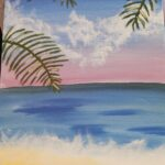 beach picture from be creative studio's art class